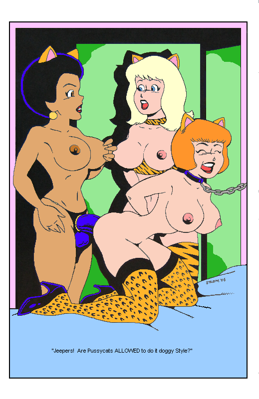 naked josie and pussycats the Anime girl with dark skin and white hair