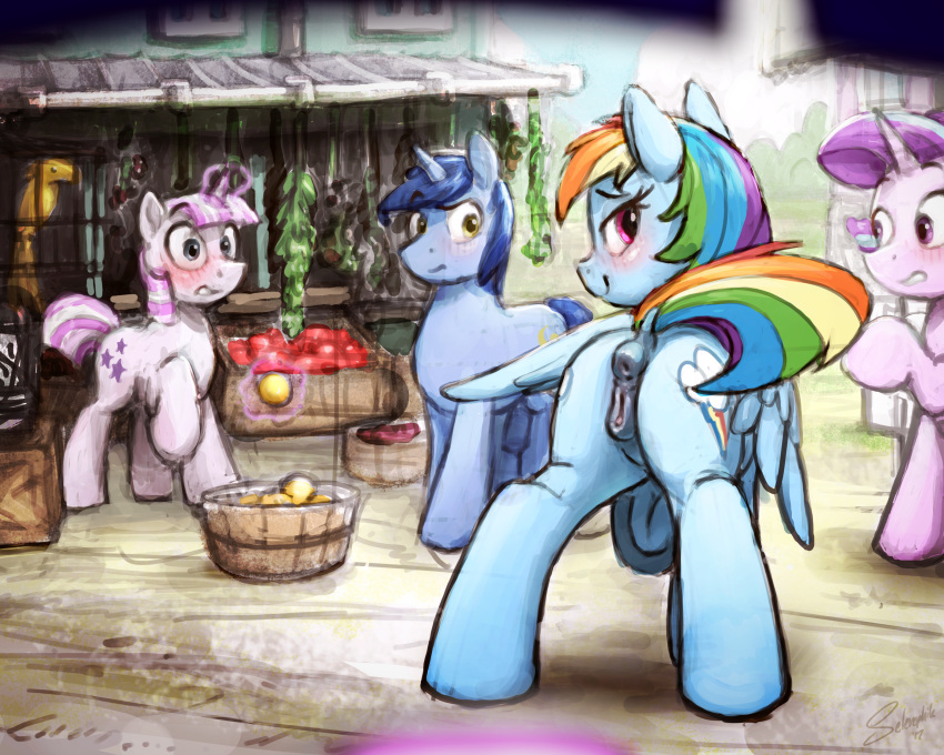 quibble rainbow pants dash and Fionna from adventure time naked
